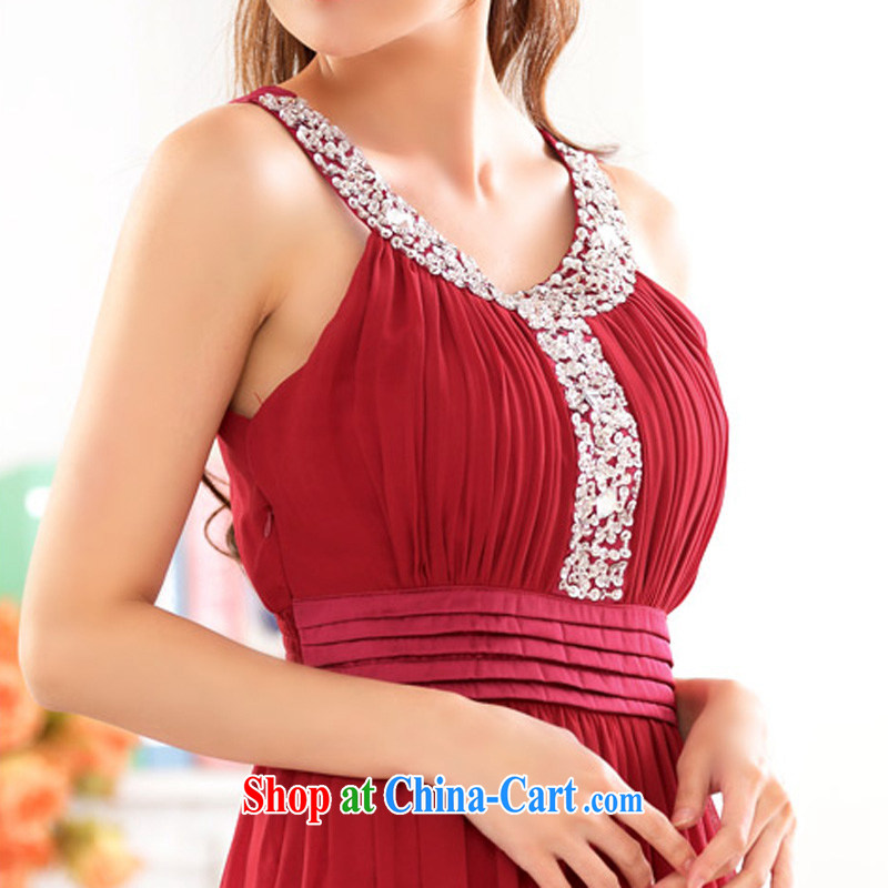 An Philippines and the United States and Europe snow high woven staple Ju-won for high waist and chest shoulder thick mm large yards version Toastmaster of the festive bridal evening dress the hotel hospitality small gift red XXXL, facilitating Philippine