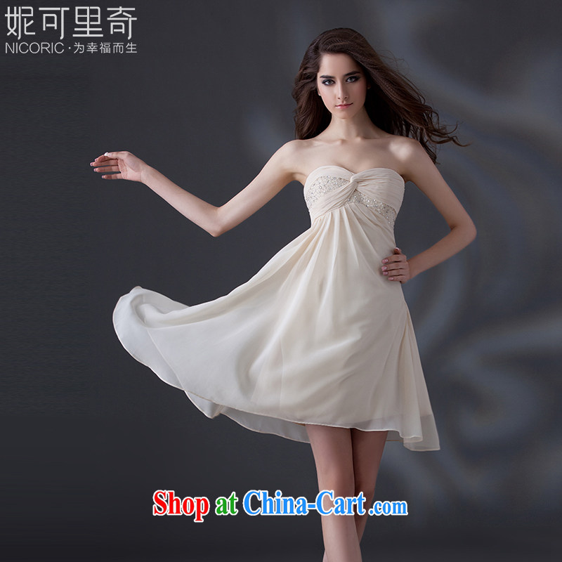 Kidman, bridesmaid dresses summer 2015 new stylish erase chest bridesmaid dress parquet drill dress snow woven bridesmaid dress the dress short dress sister dress banquet champagne color advanced customization 15 day shipping