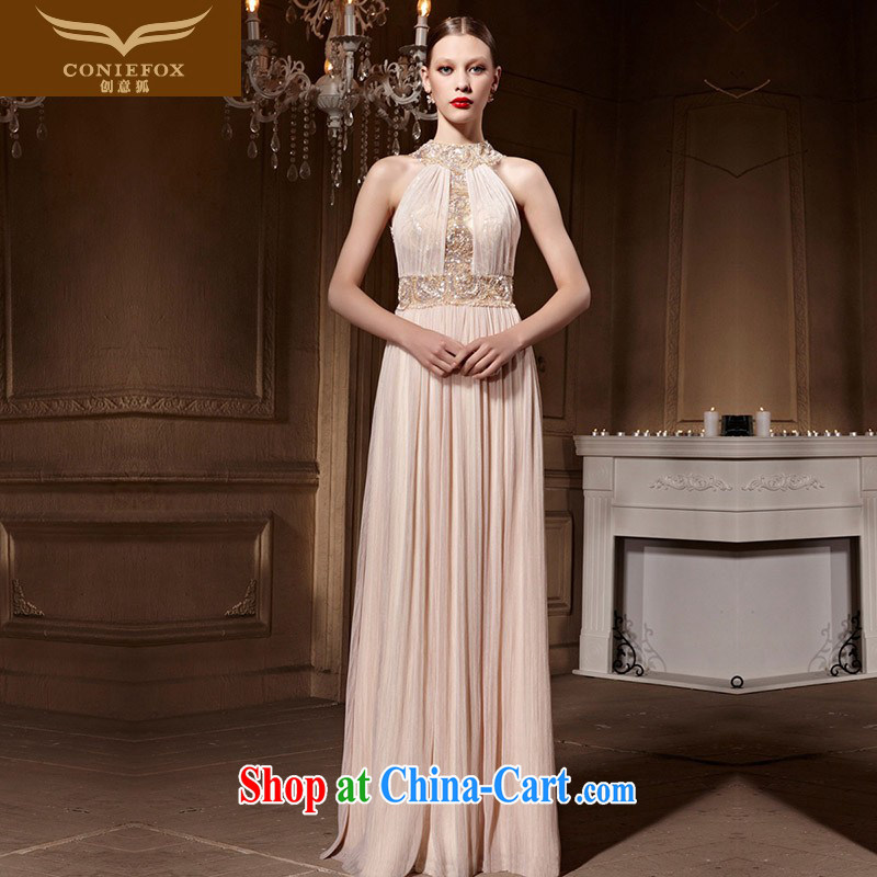 Creative Fox Evening Dress elegant and noble is also dress banquet long, cultivating the dress evening dress uniform toast party dress style skirts 82,012 picture color XXL
