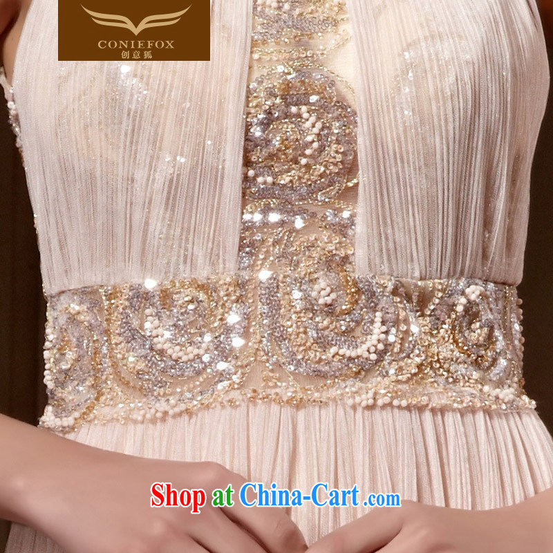 Creative Fox Evening Dress elegant and noble is also dress banquet long, cultivating the dress evening dress uniform toast party dress style skirts 82,012 picture color XXL, creative Fox (coniefox), online shopping