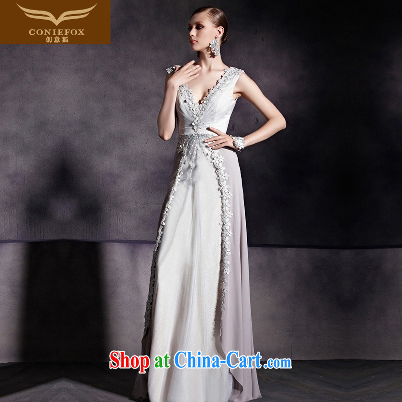 Creative Fox Evening Dress New Long banquet dress shoulders V for cultivating dress Exhibition will preside over dress beauty long with 81,859 dresses picture XXL