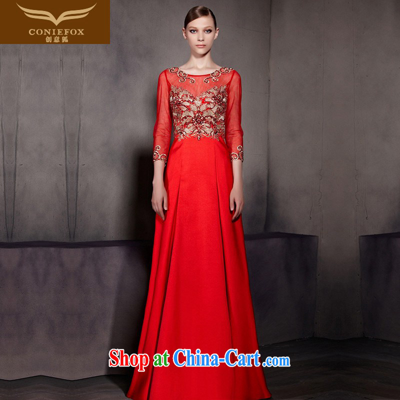 Creative Fox Evening Dress New Red wedding dresses bows stylish 7 cuff bridal dresses bridesmaid long fall dress skirt hospitality service 81,868 pictures color XXL