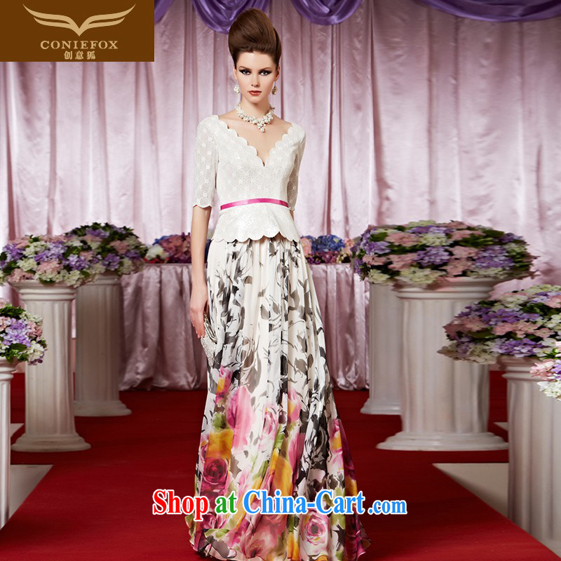 Creative Fox Evening Dress new colorful floral dress with dress lace fall evening dress long skirt bridal gown service performed under 30,389 dresses picture color S