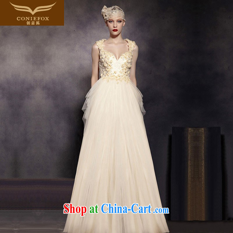 Creative Fox Evening Dress new Princess shaggy dress wedding dress high waist thin dress shoulders fall to dress the annual 30,519 dresses picture color XXL