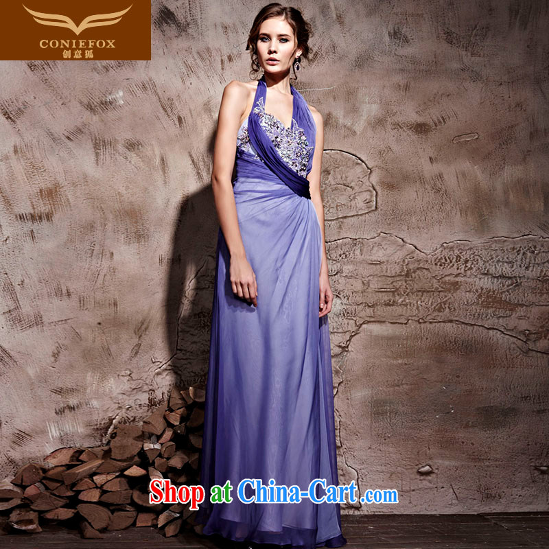 Creative Fox dress sense is also banquet dress purple wedding dresses stage. The annual dress welcome dress 81,061 purple XXL