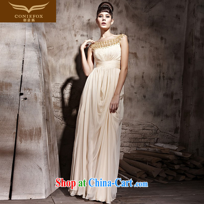 Creative Fox Evening Dress elegant banquet dress long bridesmaid dress evening dress bows dress bridal wedding hospitality service presided over 81,088 dresses picture color XXL