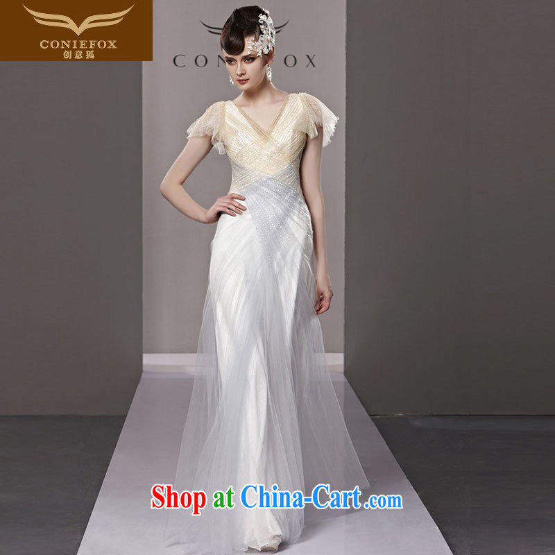 Creative Fox Evening Dress elegant softness long banquet dress the annual dress dress upscale Red Carpet dresses dresses show long skirt 81,220 picture color XXL, creative Fox (coniefox), online shopping