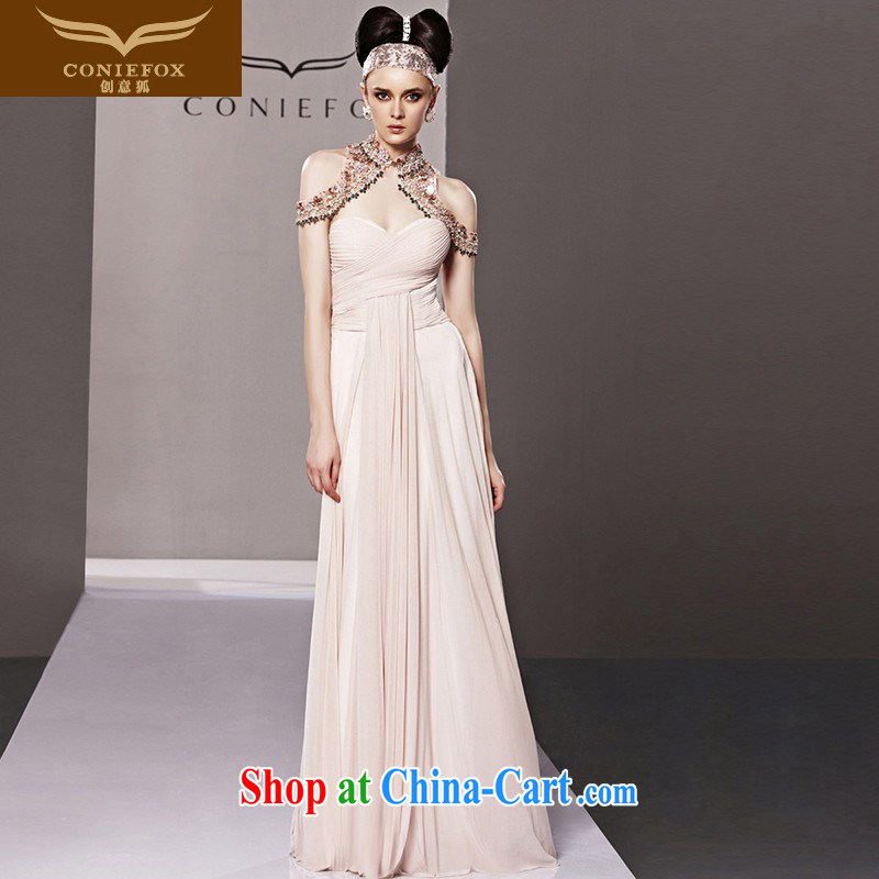 Creative Fox Evening Dress pink classic and elegant European-style evening dress long skirt the annual dress exhibition dress banquet is also 81,005 dresses picture color XXL