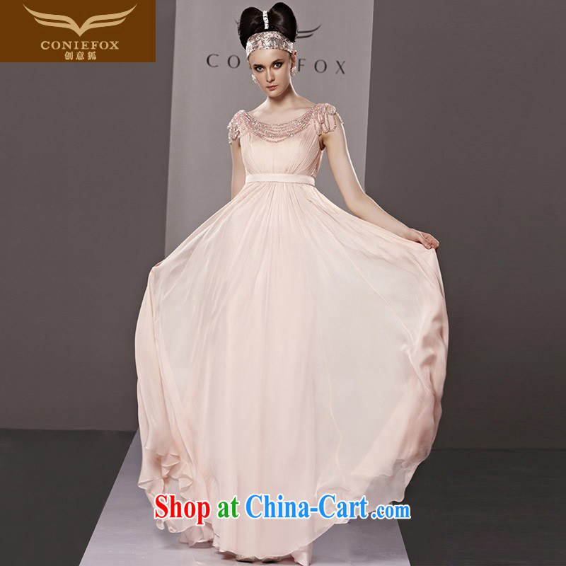 Creative Fox Evening Dress pink bridal wedding dresses sweet Princess dress dress long cultivating bridesmaid dress banquet appearances 81,209 dresses picture color XXL