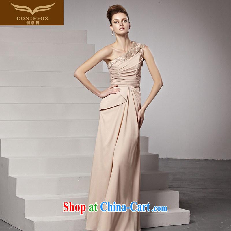 Creative Fox Evening Dress banquet beauty long temperament dress fall exhibition dress long skirt the annual dress evening dress uniform toast 81,515 picture color XXL