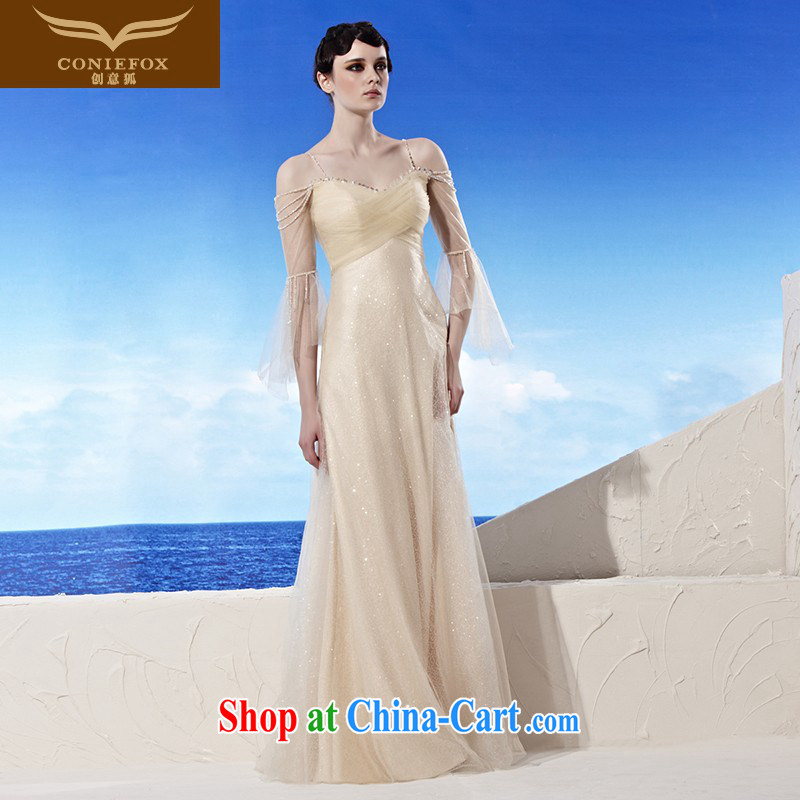 Creative Fox Evening Dress elegant long straps fall to suit new toast Service Bridal banquet Evening Dress dress dress moderator dress 56,955 picture color XXL
