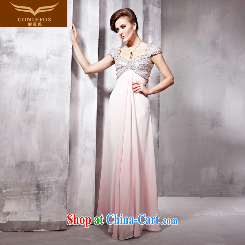 Creative Fox Tuxedo star, upscale wedding dresses bridal wedding dress beauty long bridesmaid dress banquet moderator dress 56,698 pink XL