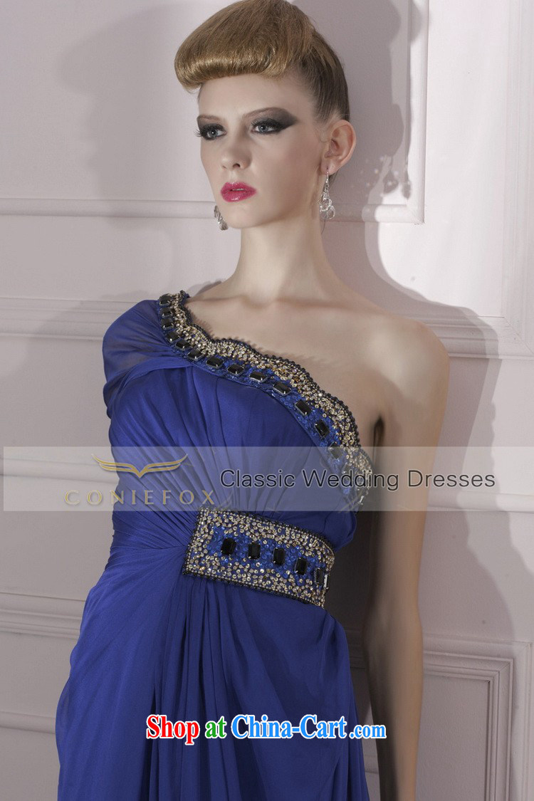 Creative Fox Evening Dress blue-waist dress dress toast the annual dress elegant style evening dress long dress 80,966 dark blue S pictures, price, brand platters! Elections are good character, the national distribution, so why buy now enjoy more preferential! Health