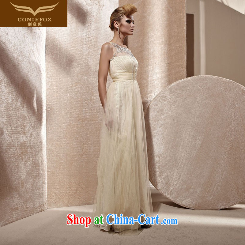 Creative Fox Evening Dress stylish and elegant and exclusive wedding dresses long bridesmaid dress with red carpet dresses show annual dress the dress 81,026 light yellow XXL