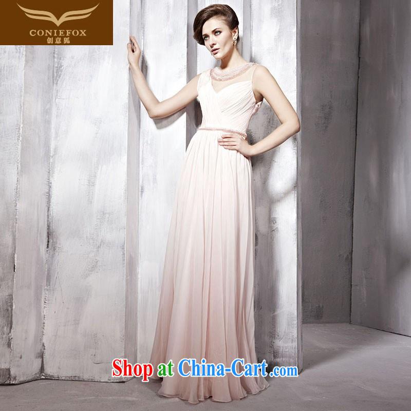 Creative Fox dress pink bridesmaid dress wedding dress elegant long good evening dress fall silk dresses the annual 80,992 dresses pink XXL