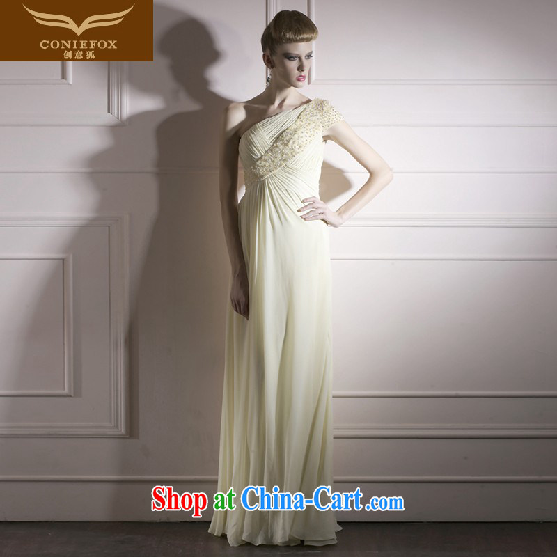 Creative Fox dress pale yellow high quality wedding dress photo building photography wedding dresses elegant long evening dress dress dress 80,955 light yellow XXL