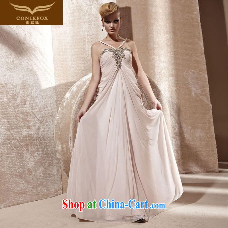 Creative Fox dress pink wedding dress beauty long bridesmaid dress banquet evening dress toast clothing straps dress dress dress 80,962 pink XXL