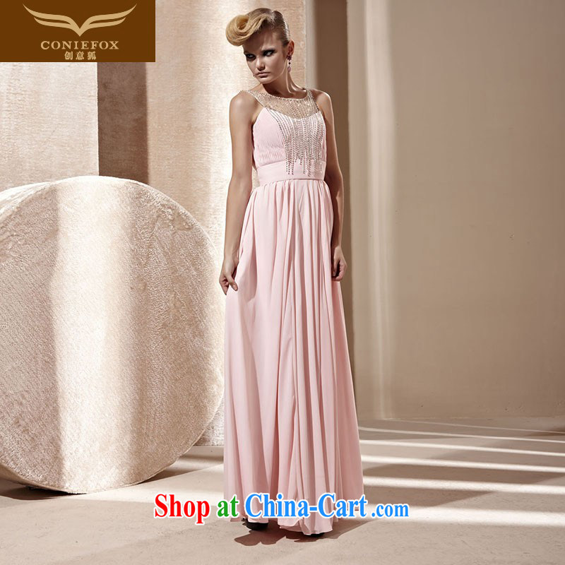 Creative Fox Evening Dress 2015 new pink beauty dress elegant long dresses banquet evening dress dress annual dress presided over 80,822 pink XXL