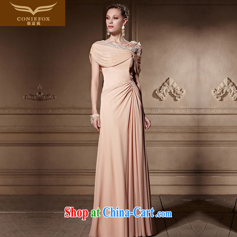 Creative Fox high-end custom dress new elegant bridal wedding dress theatrical dress banquet toast service presided over 81,638 dresses picture color tailored