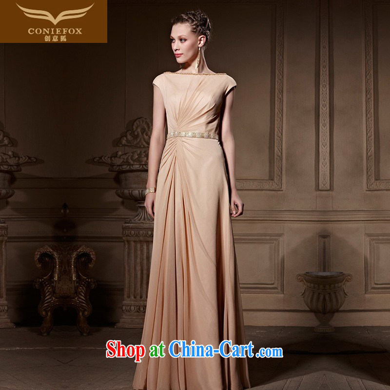 Creative Fox high-end custom dress a shoulder back exposed banquet dress Evening Dress dress video slim, dress the annual 82,016 dresses picture color tailored