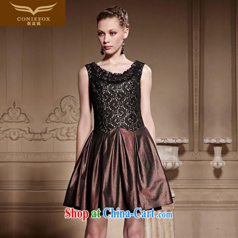 Creative Fox high quality custom dress new retro lace small dress short black dress, dresses banquet evening dress dress 82,022 picture color tailored