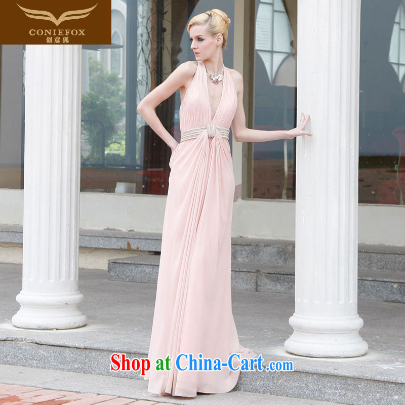 Creative Fox Evening Dress bridal wedding dress long pink bridesmaid annual service hostess dress dress uniform toast dress dresses 80,832 pink XL