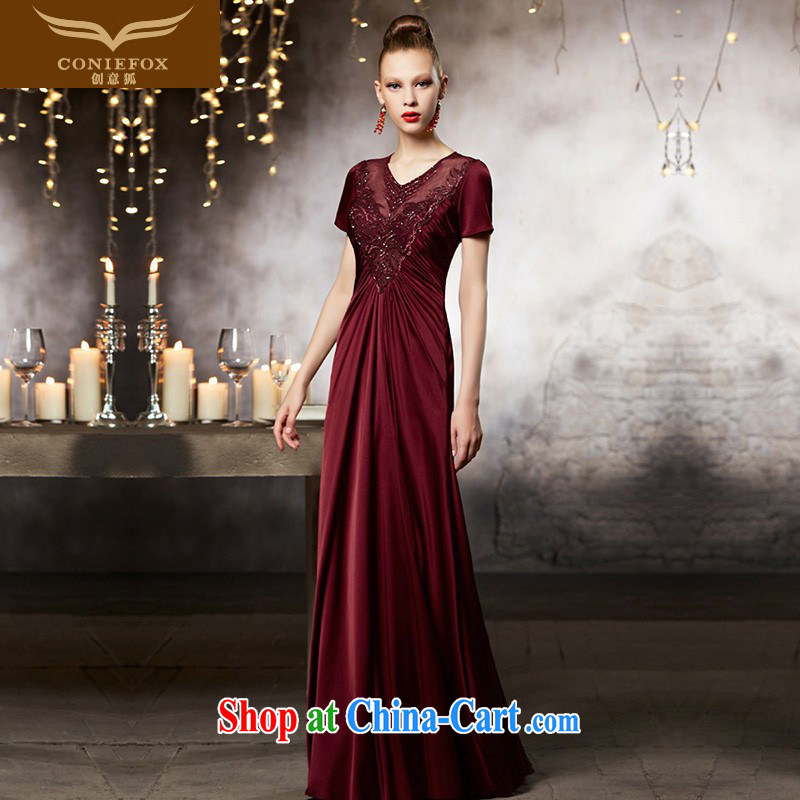 Creative Fox Evening Dress high-end custom wedding dresses 2015 New Beauty fall dress uniform toasting banquet dress long dress 30,809 picture color tailored