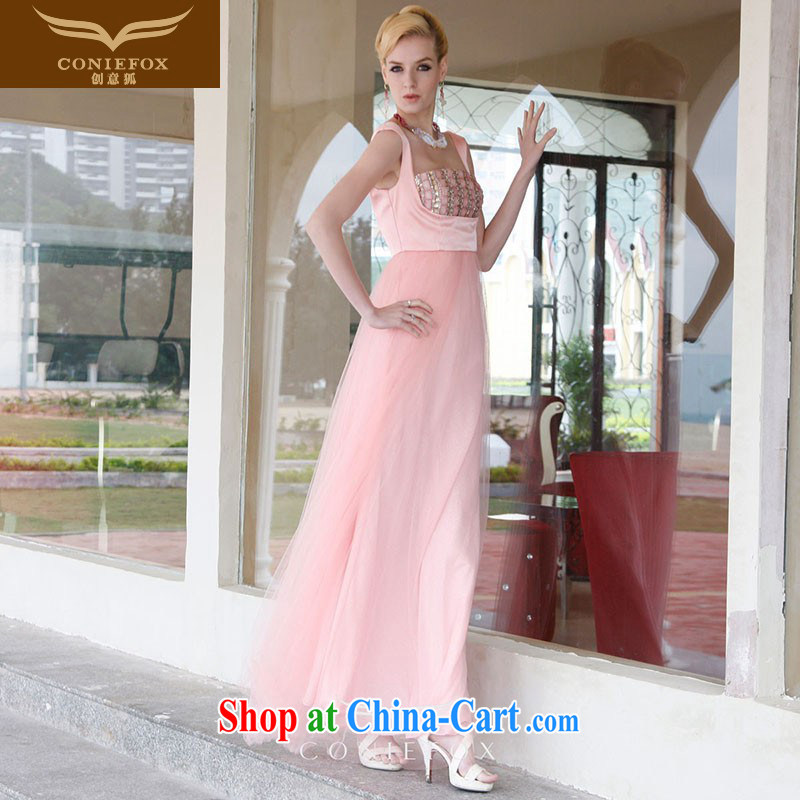 Creative Fox 2015 new pink bridal wedding dress banquet toast clothing bridesmaid clothing elegant long cultivating the dress long skirt 80,838 pink XXL