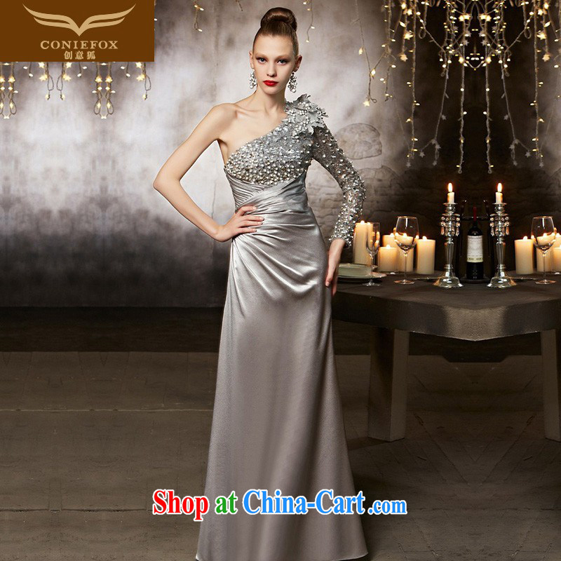 Creative Fox advanced custom dress up beauty, sense of the shoulder bows dress uniform dress the annual dress up to 30,835 pictures color tailored