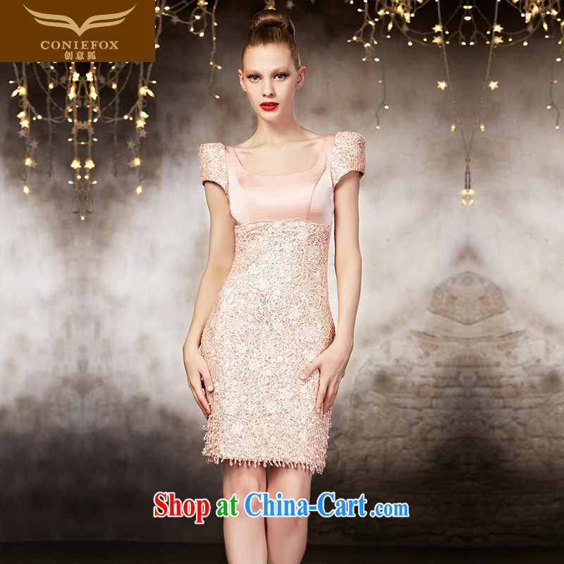 Creative Fox Evening Dress 2015 new advanced custom wedding dresses bridesmaid dress sister service banquet short beauty dress 30,883 picture color tailored