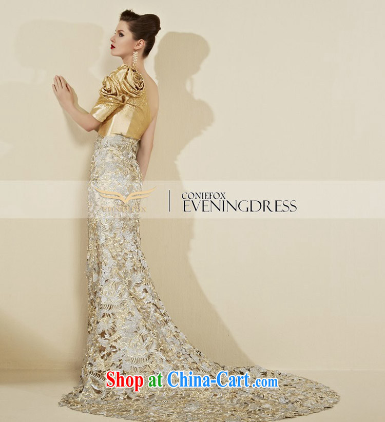 Creative Fox dress advanced custom dress single shoulder-length beauty, fall at Merlion dress banquet toast service annual meeting moderator dress 82,090 picture color tailored pictures, price, brand platters! Elections are good character, the national distribution, so why buy now enjoy more preferential! Health
