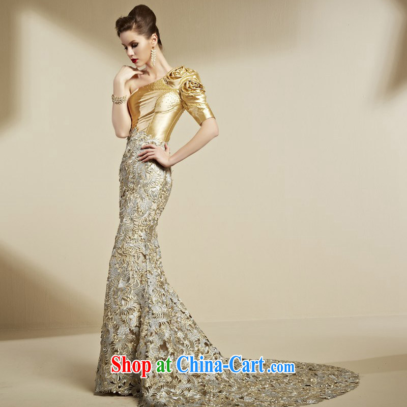 Creative Fox dress advanced custom dress single shoulder-length beauty, fall at Merlion dress banquet toast service annual meeting moderator dress 82,090 picture color tailored to creative Fox (coniefox), online shopping