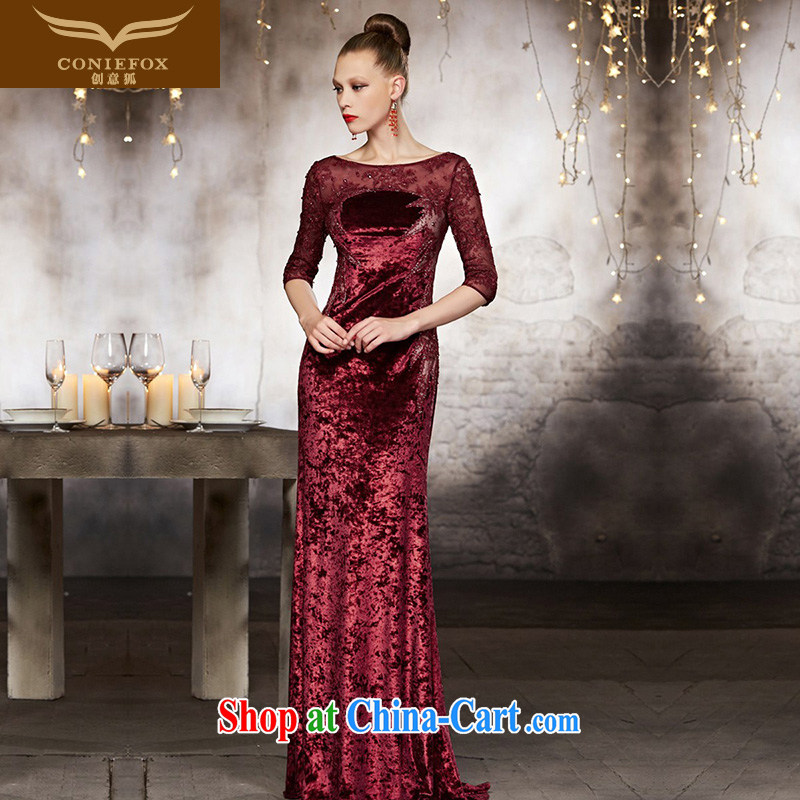 Creative Fox advanced custom wedding dresses 2015 New Long fall evening dress red bows service beauty banquet evening dress dress 82,106 pictures color tailored