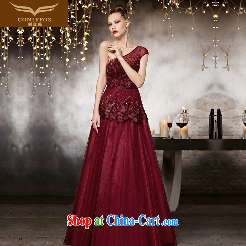 Creative Fox advanced custom dress, shoulder-length, red bridal wedding dress banquet toast serving graphics thin bridesmaid dress 82,113 picture color tailored