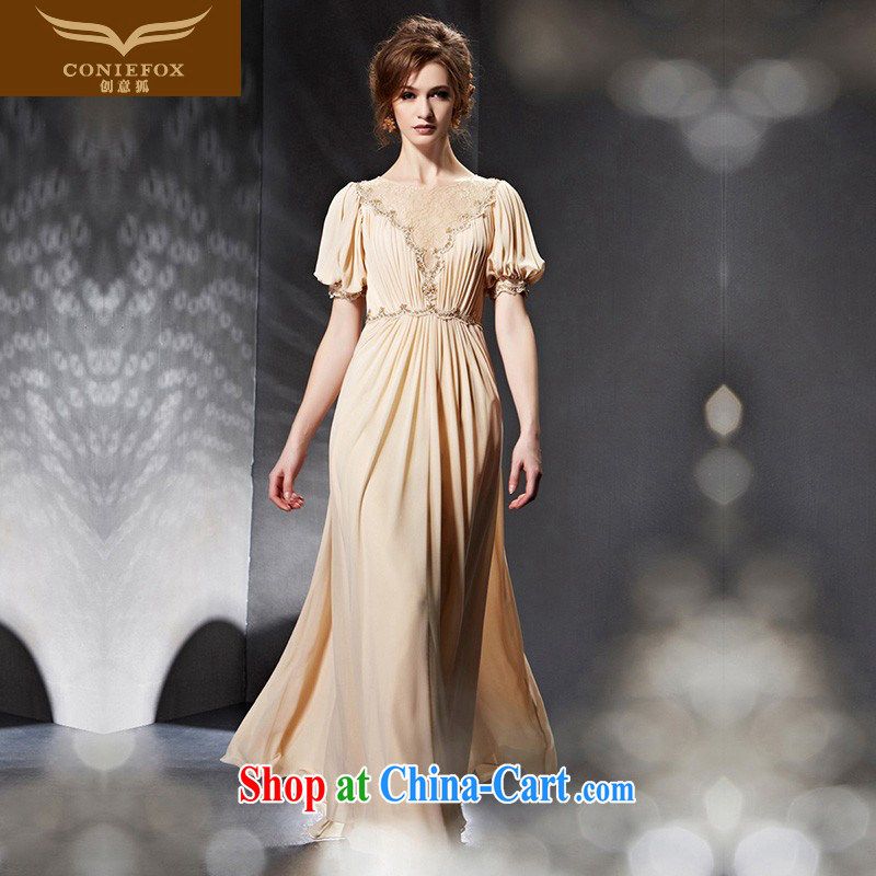 Creative Fox Evening Dress 2015 new bride wedding dress long banquet evening dress toast stage service graphics thin bridesmaid dress dress 30,636 picture color XXL