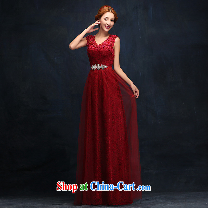 Toasting Service Bridal Fashion 2014 new marriage ceremony shoulders red evening dress long, cultivating the dress female XL