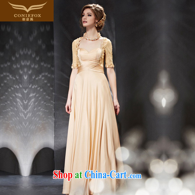 Creative Fox Evening Dress dress 2015 New Long, cultivating evening dress evening dress toast serving the annual dress bridesmaid dress 30,680 picture color XXL