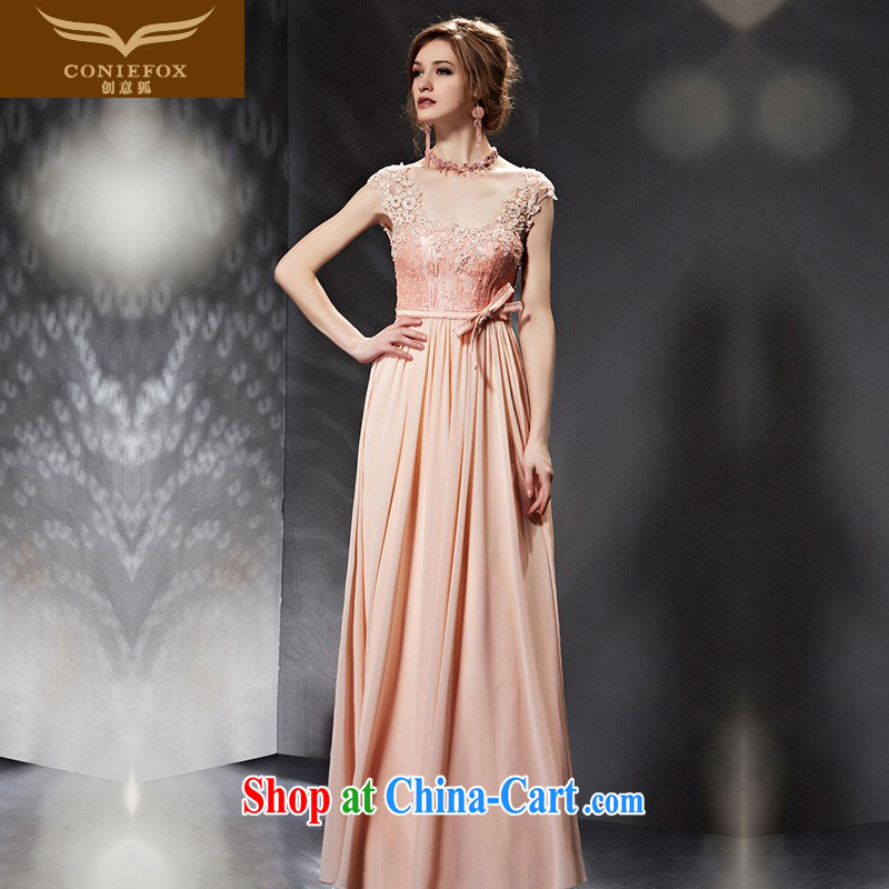 Creative Fox Evening Dress 2015 new banquet toast serving evening dress elegant long bridesmaid dress bridal wedding dress women evening dress 30,682 picture color XXL