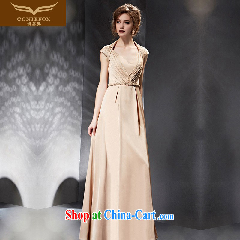 Creative Fox Evening Dress 2015 new banquet dress long terrace fall back to cultivating bridesmaid dress women evening dress annual dress presided over 30,683 picture color XXL