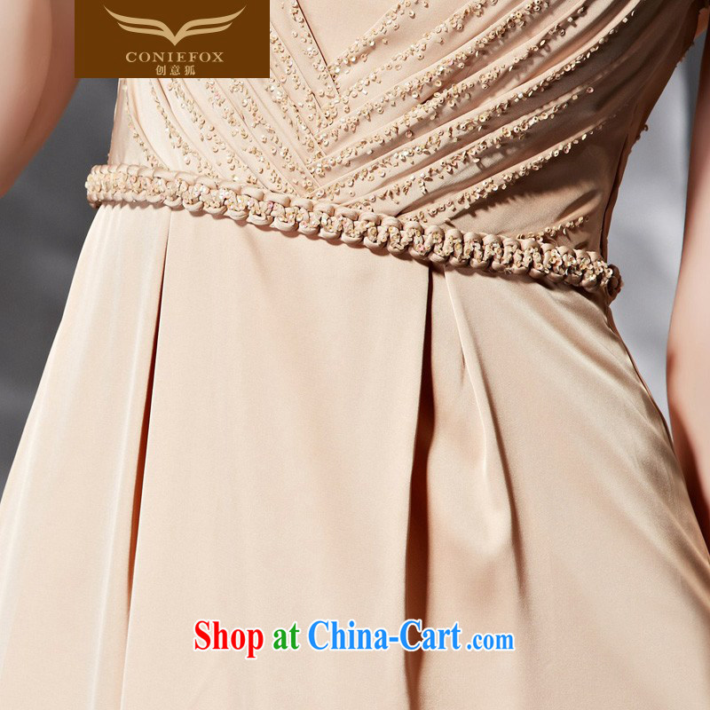 Creative Fox Evening Dress 2015 new banquet dress long terrace fall back to cultivating bridesmaid dress women evening dress will preside over 30,683 dresses picture color XXL, creative Fox (coniefox), online shopping