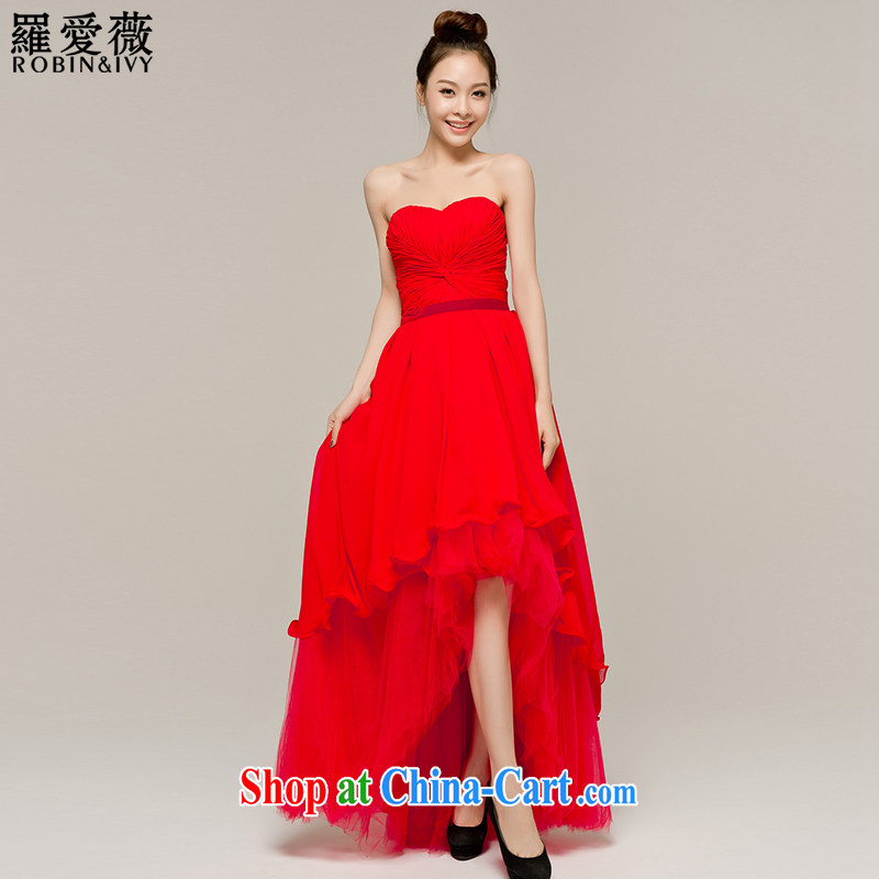 Paul love Ms Audrey EU Yuet-mee, RobinIvy) toast service 2015 new front short long marriages long evening dress L 12,103 red XL