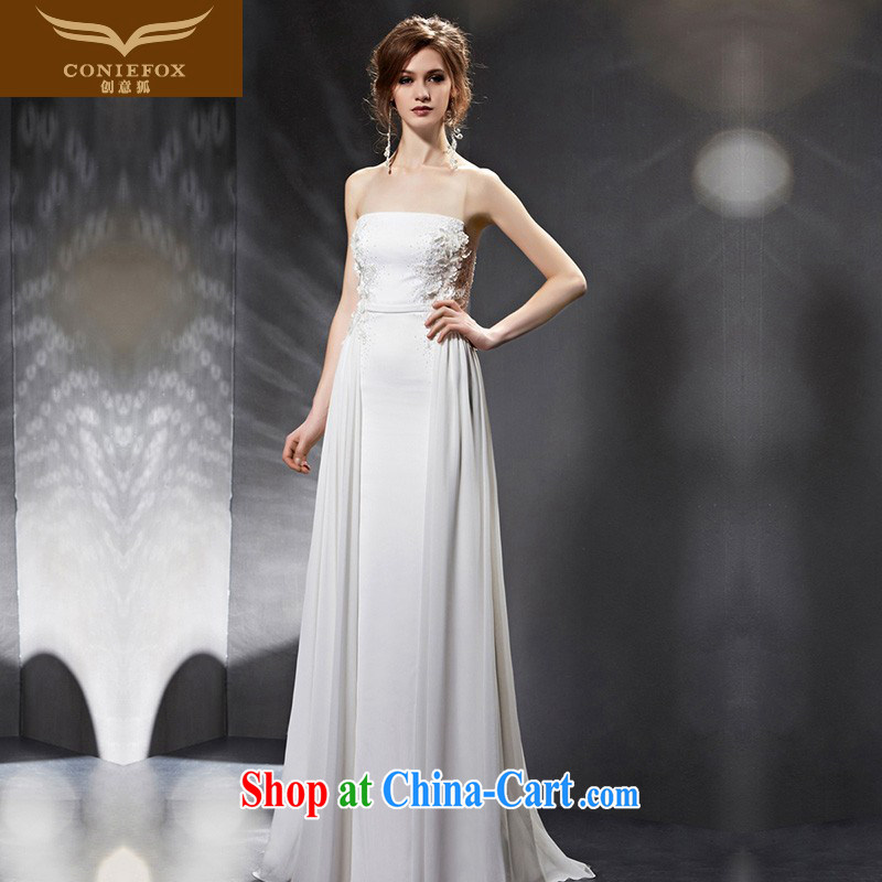 Creative Fox Evening Dress 2015 new erase chest bridesmaid dress bridal wedding dress banquet toast. Cultivating long moderator evening dress 30,801 picture color XXL