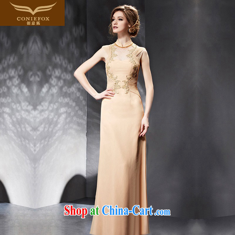 Creative Fox Evening Dress 2015 New Beauty long dress dress women evening dress banquet toast serving the annual evening dress dress 82,056 picture color XXL