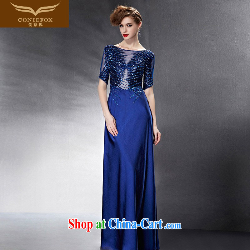 Creative Fox Evening Dress 2015 new toast clothing dress the annual dress long gown beauty car show dress model dress 82,068 picture color XXL
