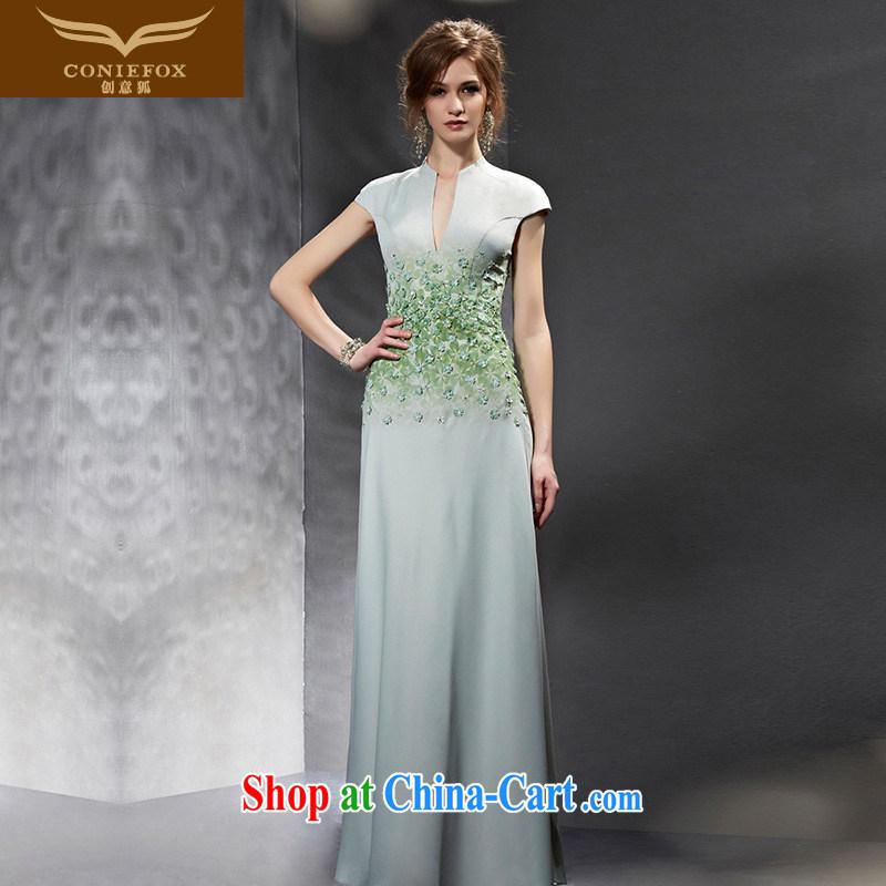 Creative Fox Evening Dress 2015 new dress long, cultivating graphics thin dress model dress dress evening dress the dress uniforms 82,089 pictures color L