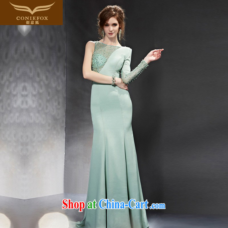 Creative Fox Evening Dress 2015 new stylish long serving toast beauty banquet evening dress dress long skirt annual meeting moderator dress uniforms 82,099 picture color XXL