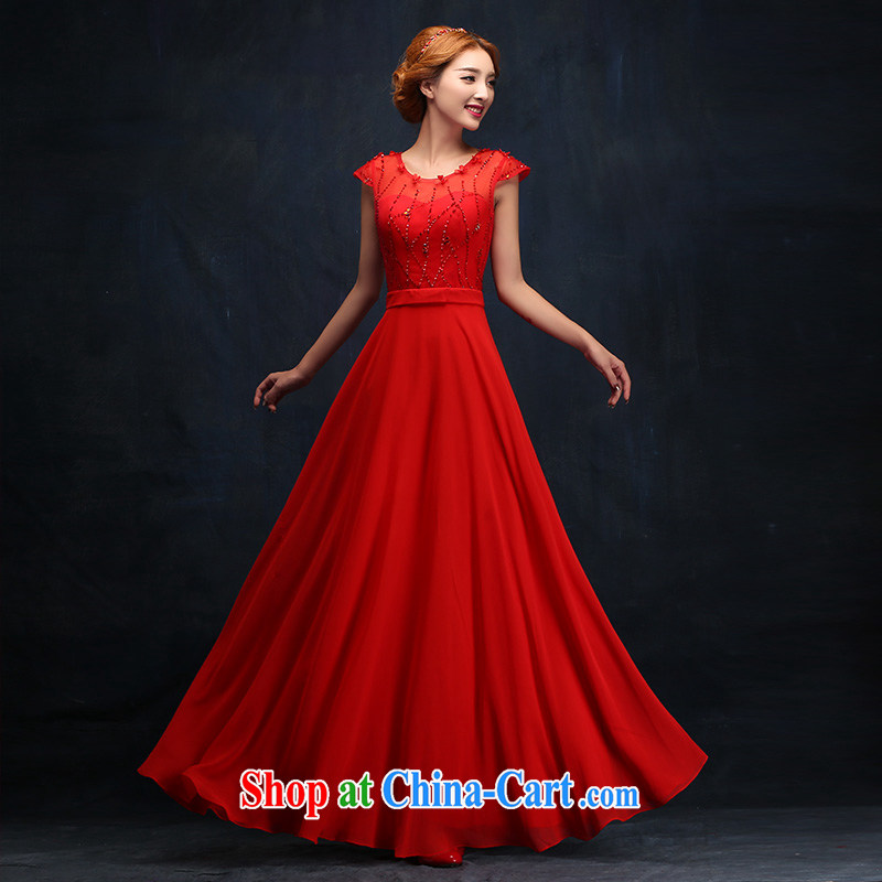Toasting Service Bridal Fashion 2015 new winter wedding bridesmaid dress banquet dress long beauty dress XL