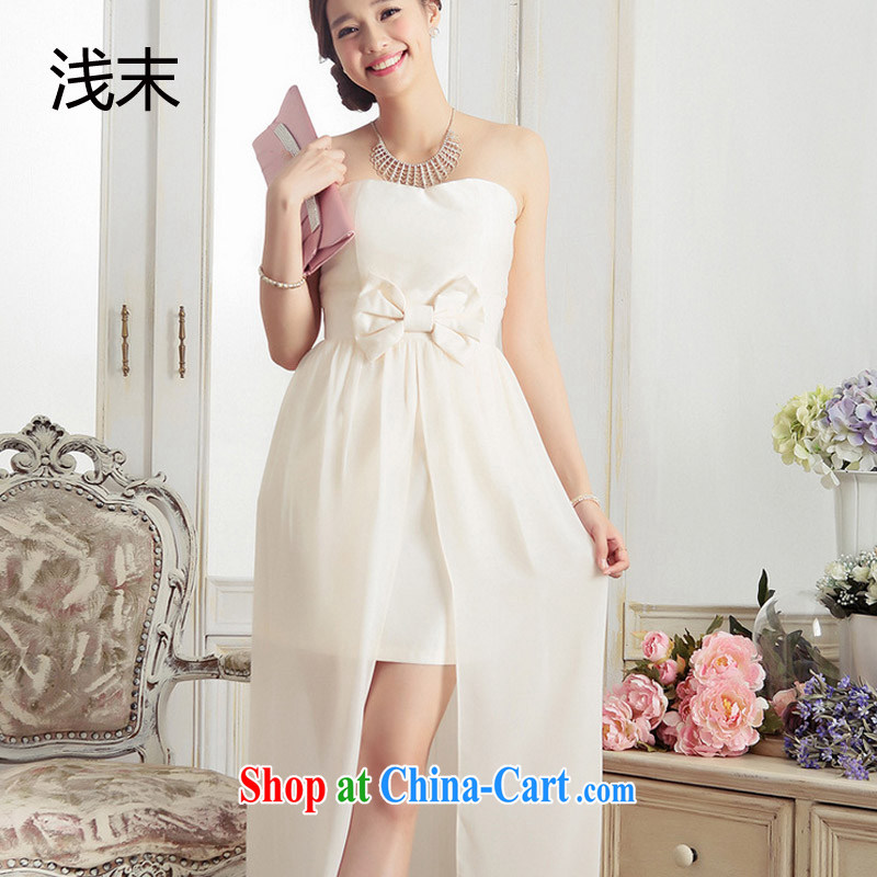 Light _at the end QIAN MO _ Yuan aura erase chest bowtie softness tail dress long small dress dresses 3378 meters, color code