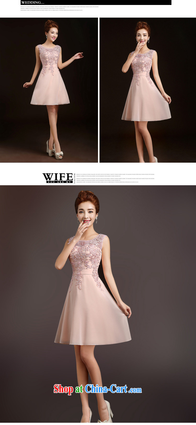 Ting Beverly bridesmaid dress 2015 new spring short marriages stylish bows dress sister dress evening dress beauty wedding dresses pink S pictures, price, brand platters! Elections are good character, the national distribution, so why buy now enjoy more preferential! Health