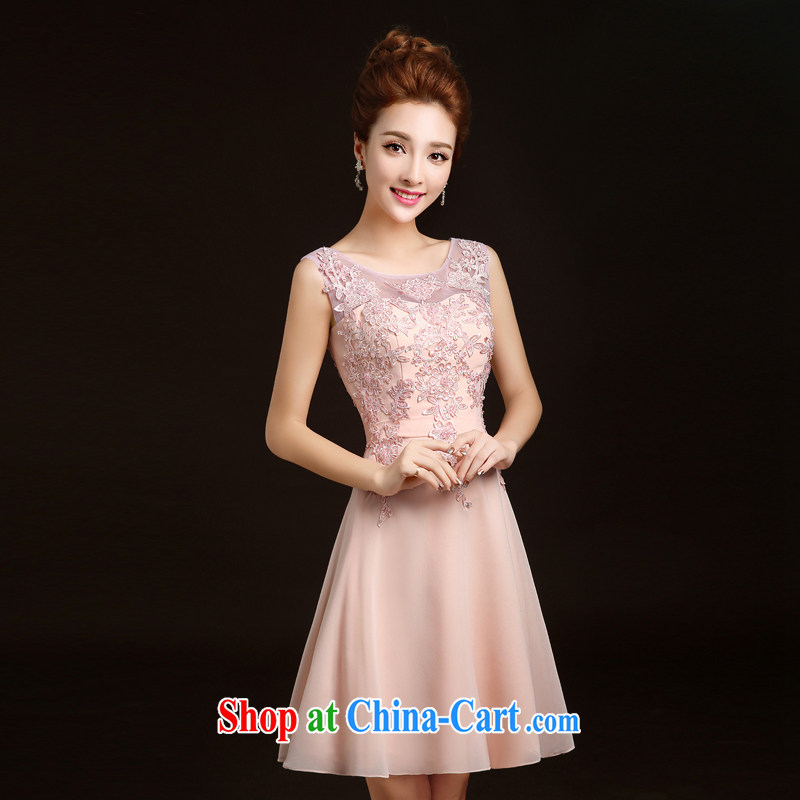 Ting Beverly bridesmaid dress 2015 new spring short marriages stylish bows dress sister dress evening dress beauty wedding dresses pink S Ting, Beverly (tingbeier), online shopping